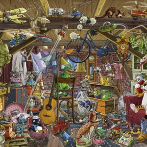 Buy HEYE In The Attic (1000 Piece Jigsaw Puzzle) and other great jigsaw puzzles only at Jigsaw Nation
