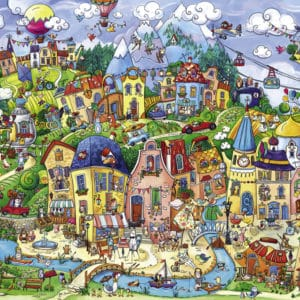 Buy HEYE Happytown (1500 Piece Jigsaw Puzzle) and other great jigsaw puzzles only at Jigsaw Nation