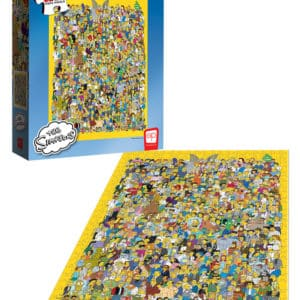 "Buy The Simpsons ""Cast of Thousands"" and other great jigsaw puzzles only at Jigsaw Nation"