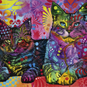 Buy HEYE Devoted 2 Cats (1000 Piece Jigsaw Puzzle) only at Jigsaw Nation.