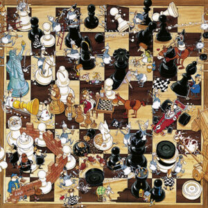 Buy HEYE Black or White (1000 Piece Jigsaw Puzzle) only at Jigsaw Nation.